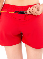 Sports Shorts With Phone Pocket - The SPS-II Red