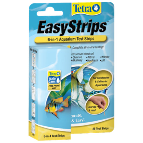 Tetra® EasyStrips™ 6-in-1 Aquarium Test Strips 25PK