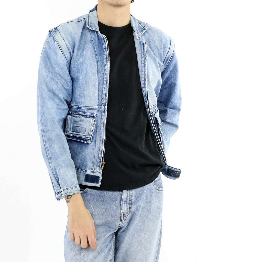 Denim Zip Up Jacket