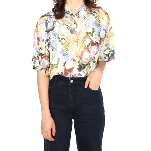 Watercolor Flowers Blouse