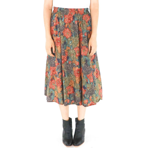 Vintage Floral Paisley Skirt