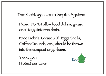 EcoEthic Septic Care Sign Pac