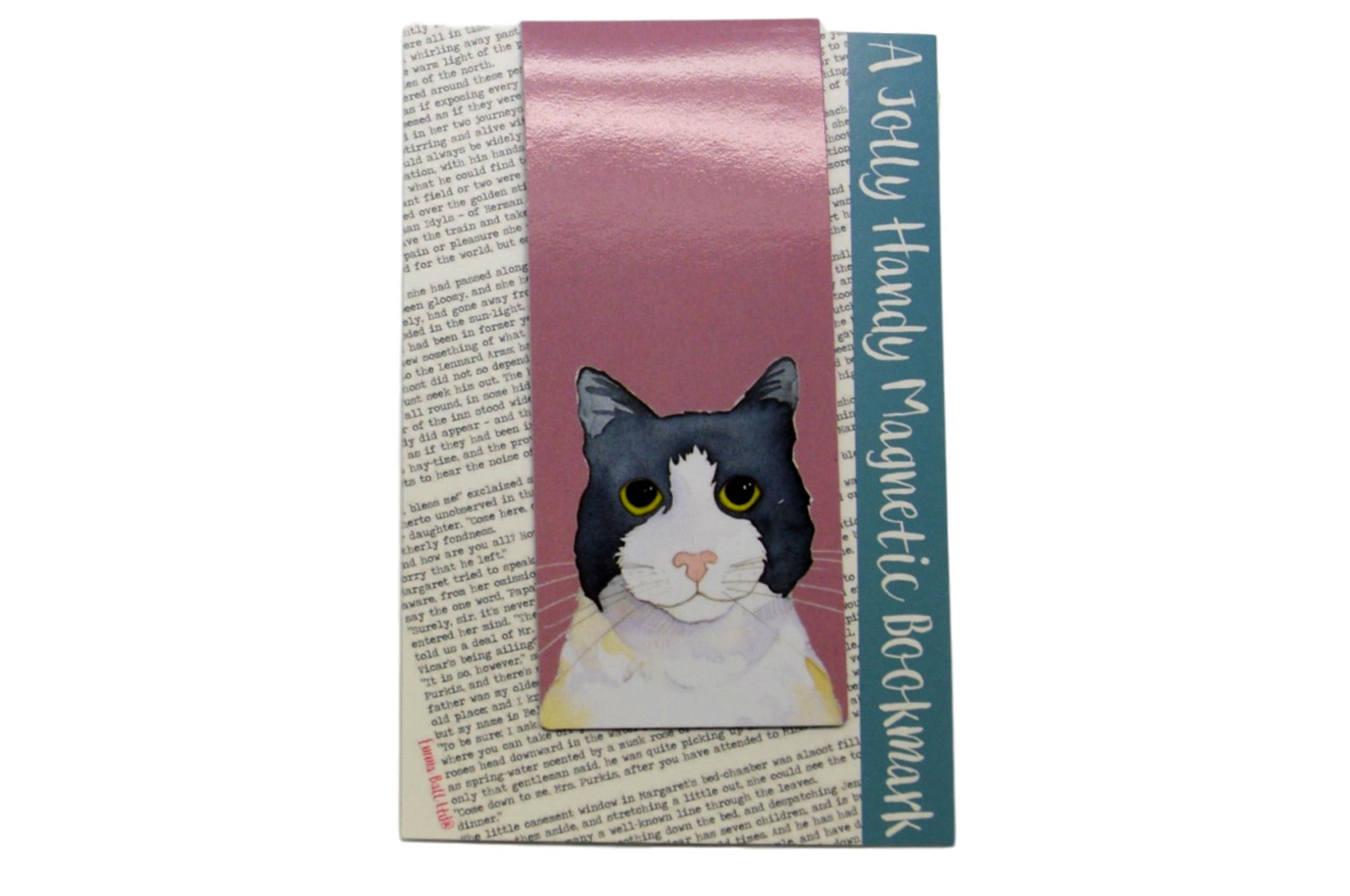Grey and Black & White Cat Magnetic Bookmark
