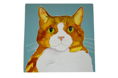 Burton Coggles Cat Watercolour Greetings Card