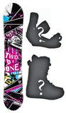 140cm 2B1 Arise Camber Womens Blem Snowboard, Build a Package with Boots and Bindings.