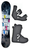 140cm Modern Amusement Smokey Camber Women Snowboard, Build a Package with Boots and Bindings.