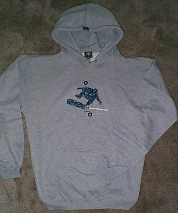 OSIRIS SKATEBOARD SHOES SWEATSHIRT HOODIE GREY OR NAVY