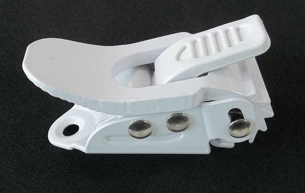 Replacement Buckle Rachit for Snowboard Bindings Each 6 cm x 3cm White symbolic