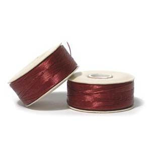 Nymo Size D Bobbin Red