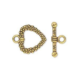 Toggle Clasp Antique Gold