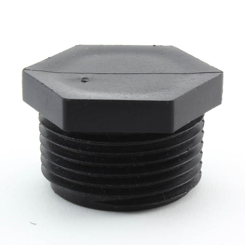 Black Plug, Threaded - Savko Plastic Pipe & Fittings