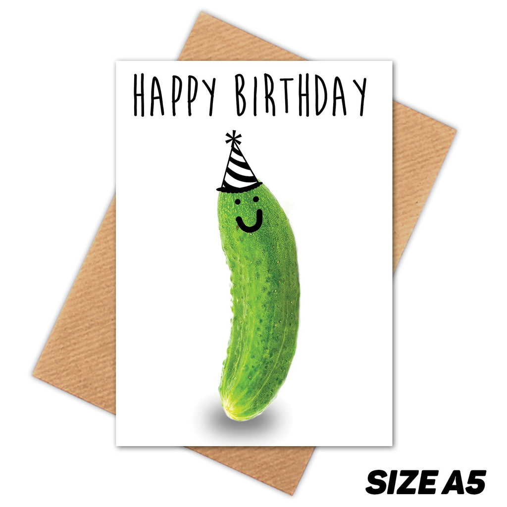 PICKLE HAPPY BIRTHDAY CARD