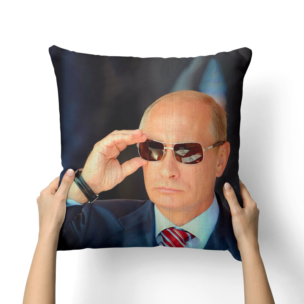 VLADIMIR PUTIN GLASSES CANVAS PILLOW