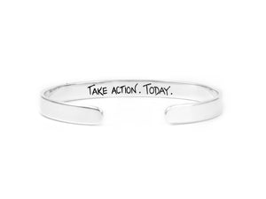 take action today recovery jewelry cuff bracelet