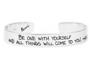 be one with yourself inspirational jewelry lao tau quote bracelet