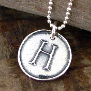 sterling silver initial necklace by hanni letter charm