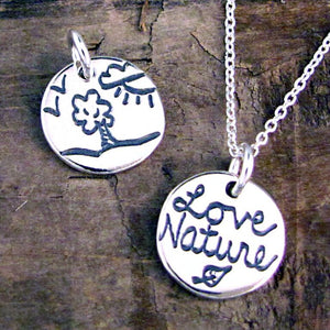 tree nature silver charm