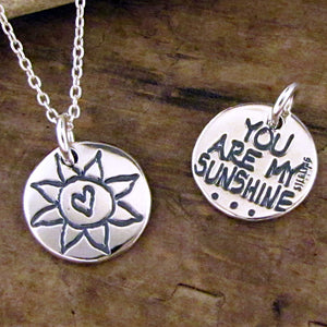 you are my sunshine necklace by hanni