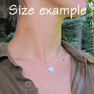 hanni jewelry small disc charm size example