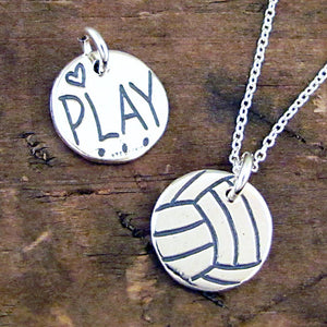 play volley ball volleyball charm