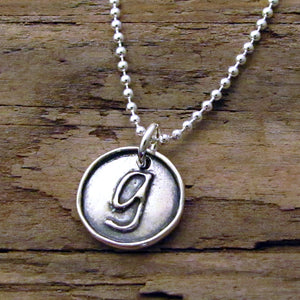 letter necklace initial charm monogram pendant hanni sterling silver
