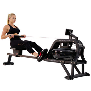Sunny Health & Fitness Obsidian Surge Water Rowing Machine (SF-RW5713) - Indoor Cyclery