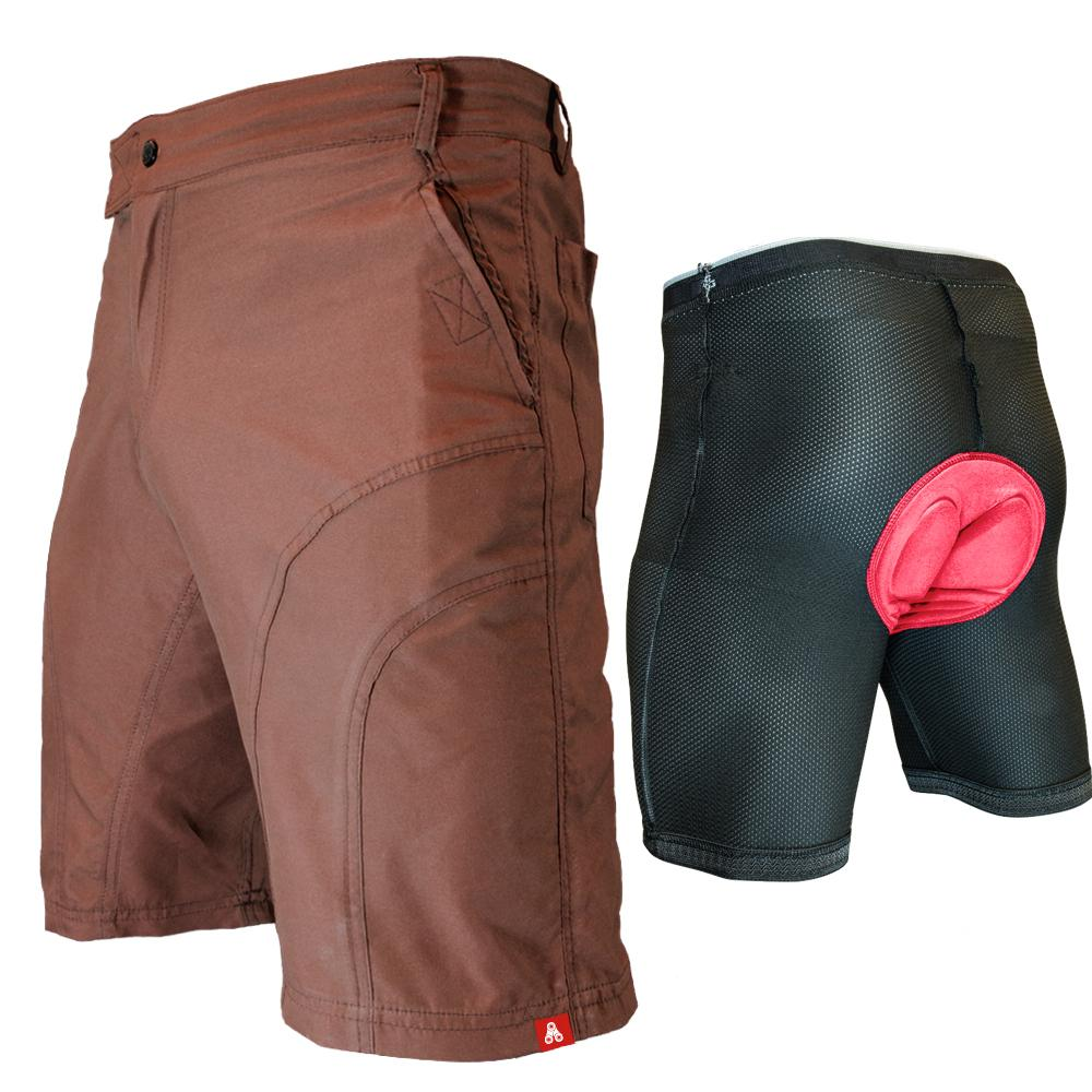 Urban Cycling Brown Pub Crawler Shorts - Indoor Cyclery