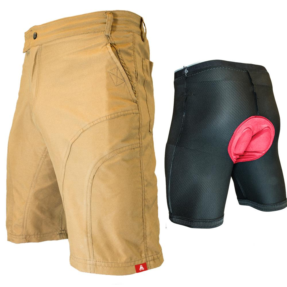 Urban Cycling Khaki Pub Crawler Shorts - Indoor Cyclery