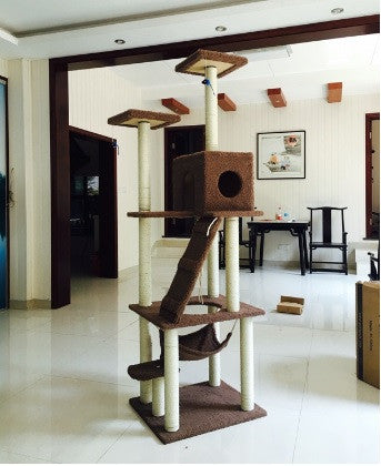 185cm Indoor Cat Tower Tree - DDhouse Singapore Online Pet Supplies and Pet Products - 1