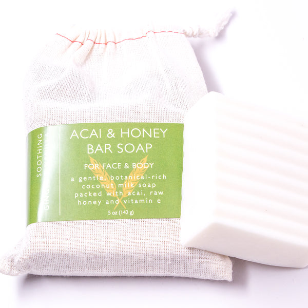 Coconut Milk Bar Soap | Acai & Honey