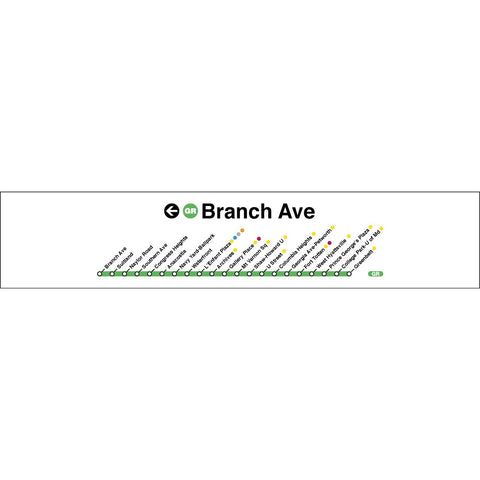 Green (Branch Ave) Poster