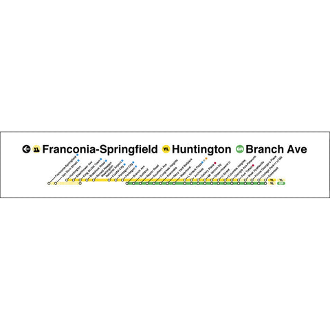 Yellow Green (Fraconia-Springfield / huntington / Branch Ave) Poster