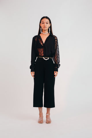 Black Illusion Shirt - Bhaavya Bhatnagar
