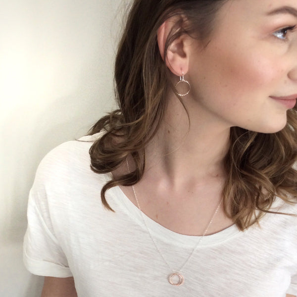 Rose Gold Ring Necklace