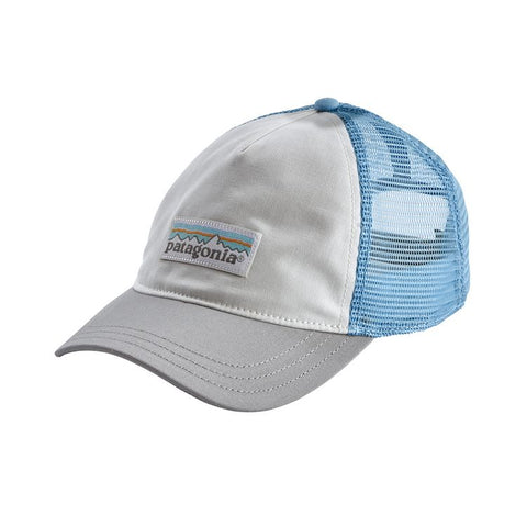Patagonia - Women's Pastel P-6 Label Layback Trucker Hat - White w/drifter Grey