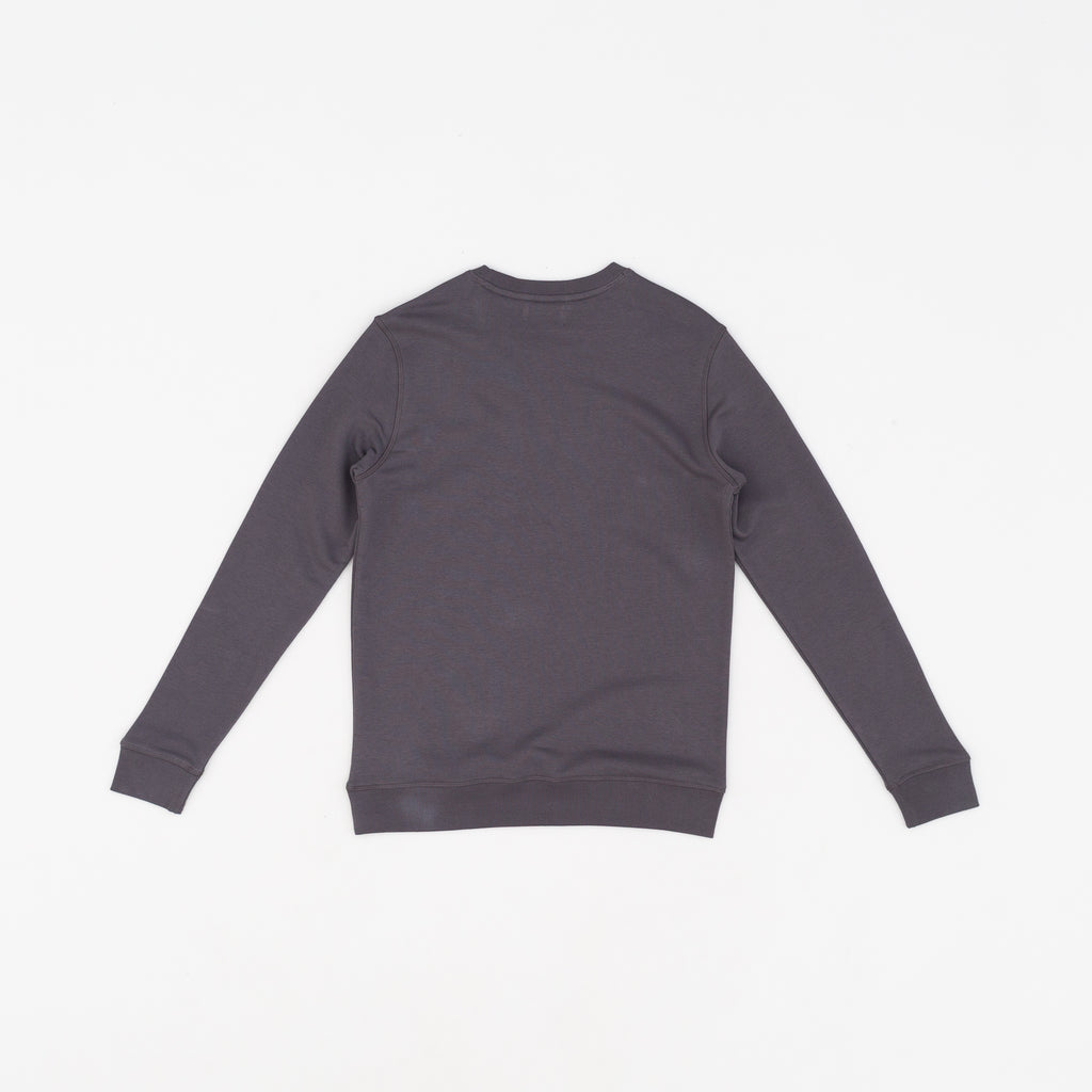 NorthSea Sweat - Anthracite with Light Blue Embroidery