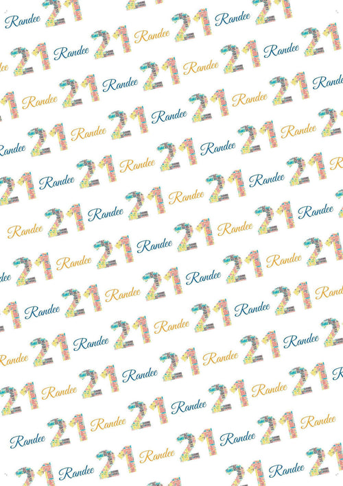21st Birthday Words Personalized Birthday Tissue Paper - Potter's Printing