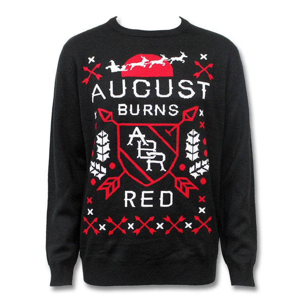 Arrows Knitted Holiday Sweater - August Burns Red - 1