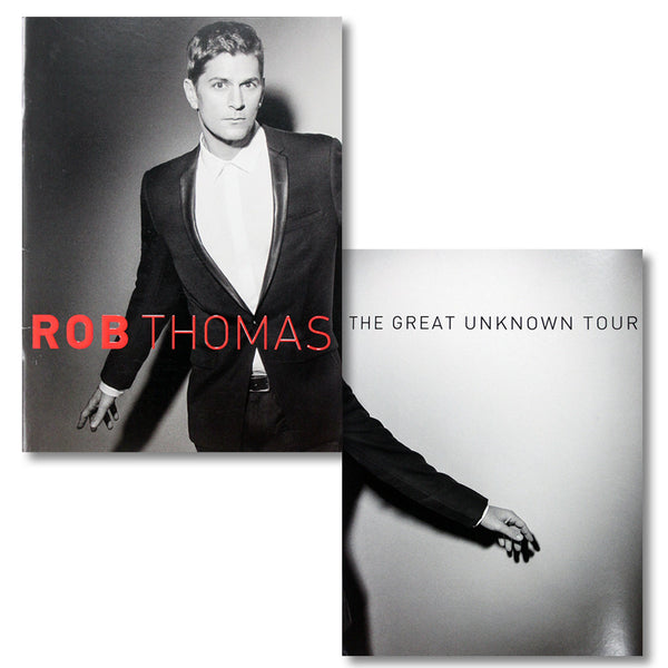 The Great Unknown Tour Program - Rob Thomas Official Store - 1