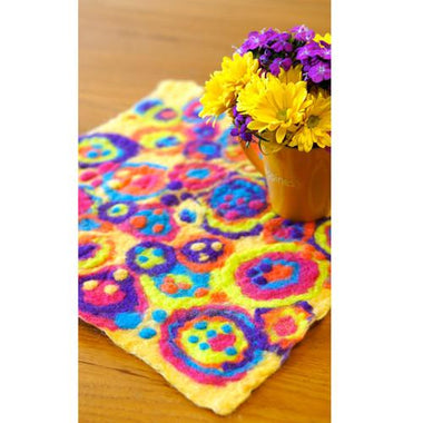 Artfelt Table Cover or Coasters Felting Kits-Kits-Paradise Fibers
