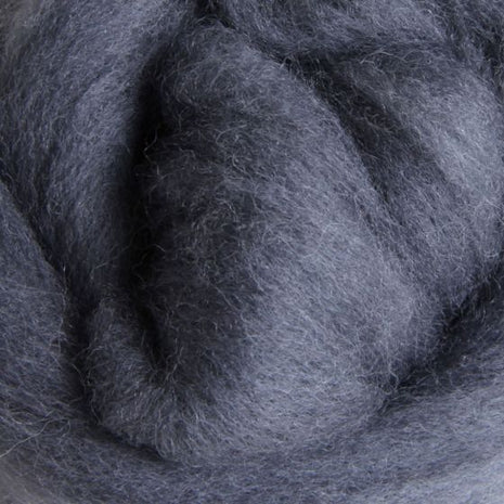 Solid Colored Corriedale Jumbo Yarn - Grey - 6.6lb (3kg) Special for Arm Knitted Blankets-Fiber-Paradise Fibers