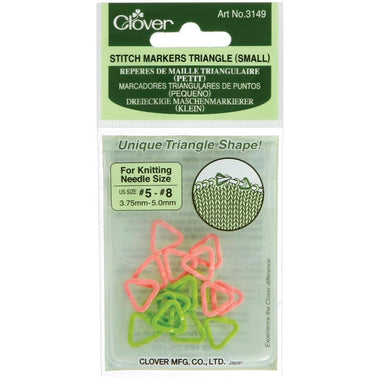 Clover Triangle Stitch Markers Small