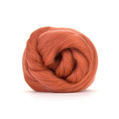 Paradise Fibers Solid Colored Merino Wool Top - Terracotta