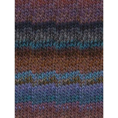 Paradise Fibers Katia Azteca - Blue, Rust, Brown