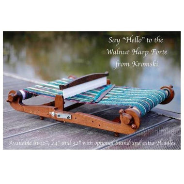 Kromski Harp Forte Rigid Heddle Looms - Walnut Finish-Looms-Paradise Fibers