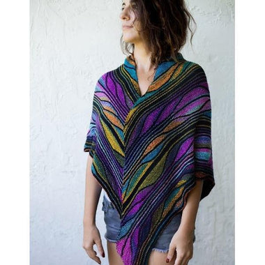 Butterfly/Papillon Shawl Pattern by Marin Melchior-Patterns-Paradise Fibers
