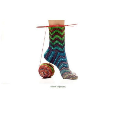 Uneek Sock Kit Pattern - Chevron Striped Sock-Patterns-Paradise Fibers