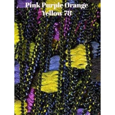 Dazzle Yarn Pink Purple Orange Yellow - 1