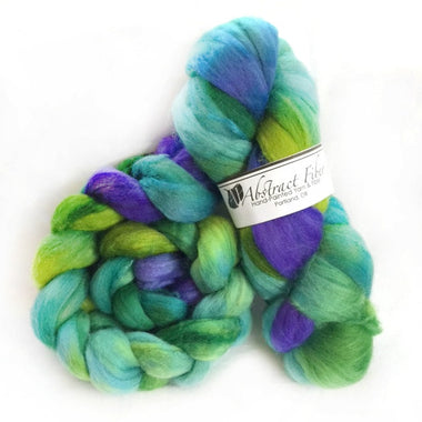 Abstract Fiber Polwarth/ Silk-Monet  2 oz. Braid