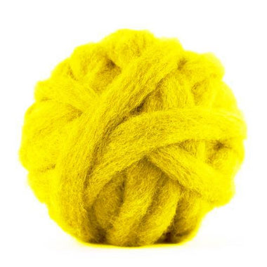 Carded Corriedale Sliver - Buttercup-Fiber-Paradise Fibers